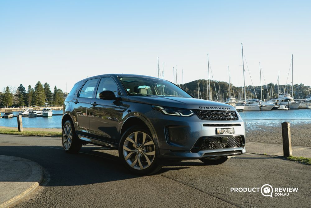 Land Rover Discovery Sport by the ocean