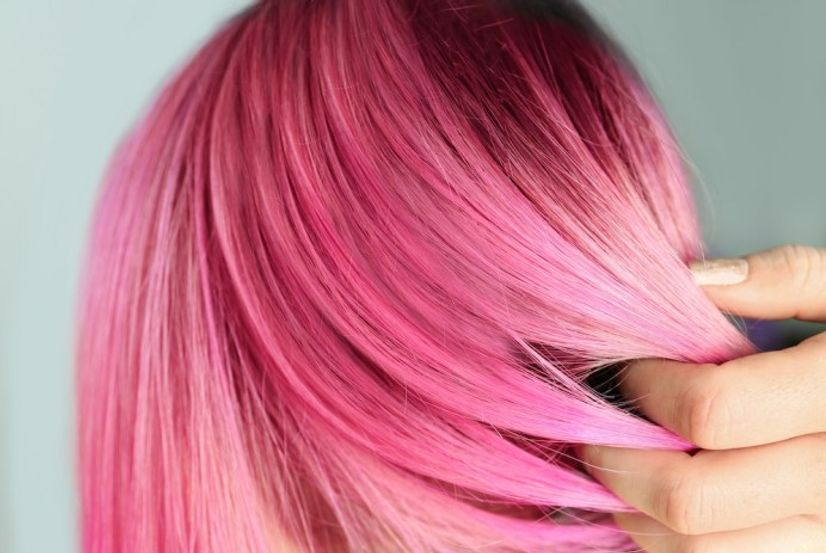 Image of girl with pink hair