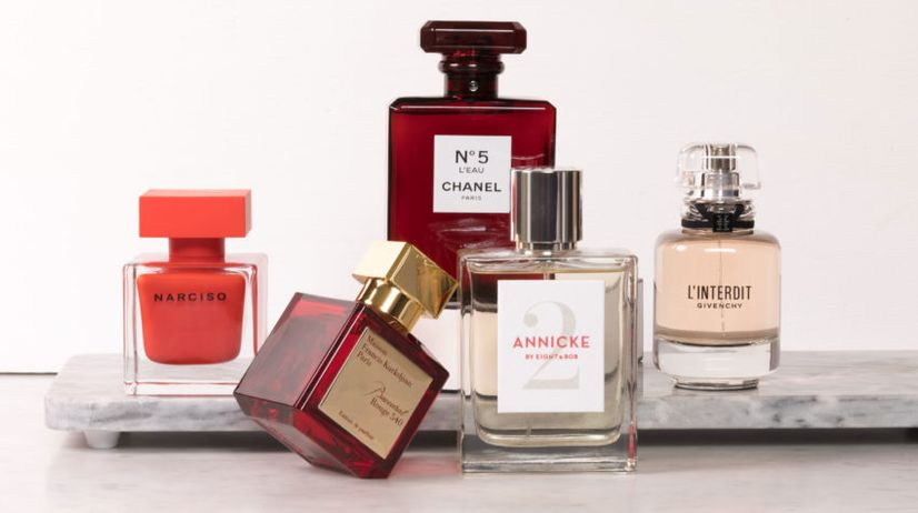 Array of famous perfumes