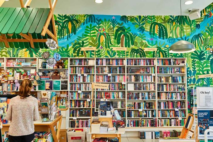 Readings Kids bookshop, a colourful independent bookshop in Carlton, Victoria.