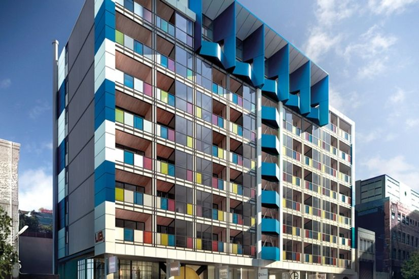 Colourful and innovatively designed apartment complex in Melbourne