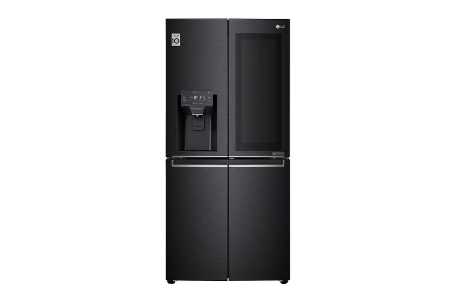 Example of sleek, black French door fridge
