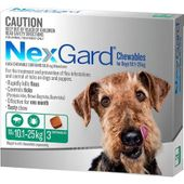 NexGard Chewables Green (For Dogs 10.1 - 24kg)