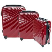 Orbis 3 Piece Deluxe UltraTough Spinner Luggage Set