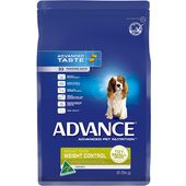Advance Special Needs Wet Dog Food in a Can Adult, Weight Control All Breed - Chicken & Rice