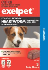 Exelpet EZY-DOSE Monthly Heartworm Treatment For Dogs