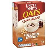 Uncle Tobys Oats Quick Sachets Golden Syrup