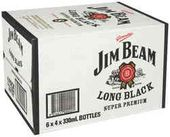 Jim Beam Long Black 7% Stubbies