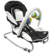 Fig & Fennel Baby Bouncer Rocker with Toy Mobile and Head Support
