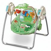 Fisher-Price Rainforest Open Top Take-Along Swing