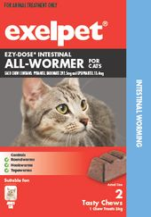 Exelpet EZY-DOSE Intestinal All-Wormer for Cats