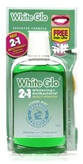 White Glo Strong Mint Whitening Mouthwash