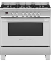 Fisher & Paykel 90cm Freestanding Dual Fuel Cooker OR90SCG2X1