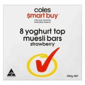 Coles Smart Buy Strawberry Yoghurt Topped