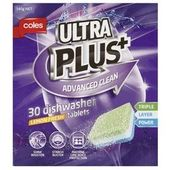 Coles Ultra Plus Advanced Dishwasher Tablets