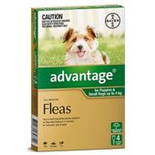 Bayer Advantage for Dogs Green (Small Dog)