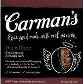 Carman's Dark Choc Cranberry & Almond
