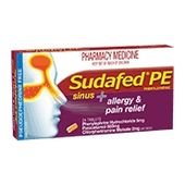 Sudafed PE Sinus Allergy & Pain Relief