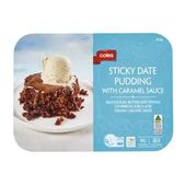 Coles Sticky Date Pudding With Caramel Sauce