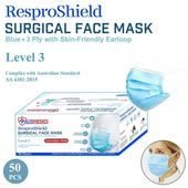 Ausmedio ResproShield Surgical Face Mask - Blue
