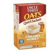 Uncle Tobys Oats Quick Sachets Creamy Honey
