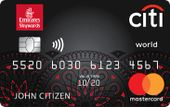 Citibank Emirates Citi World Mastercard