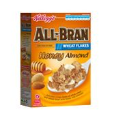 Kellogg's All-Bran Wheat Flakes Honey Almond