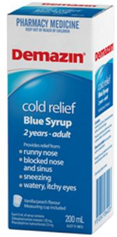 Demazin Cold Relief Blue Syrup