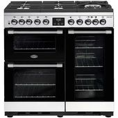 Belling CookCentre Deluxe 90cm Dual Fuel Gas-Through-Glass