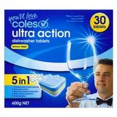 Coles Ultra Action Dishwashing Tablets