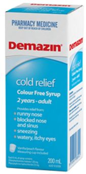 Demazin Cold Relief Colour Free Syrup