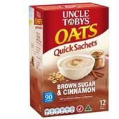 Uncle Tobys Oats Quick Sachets Brown Sugar and Cinnamon
