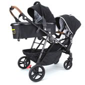 Baccani Lusso Single to Double Pram