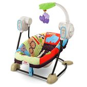 Fisher-Price Luv U Zoo SpaceSaver Swing & Seat