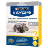 Total Care Tasty Chew Heartworm and Allwormer for Dogs