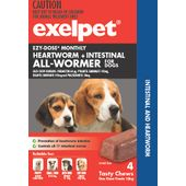 Exelpet EZY-DOSE Heartworm & Intestinal All-Wormer for Dogs