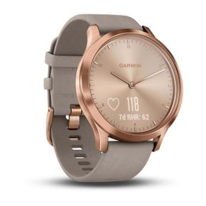 The Garmin Vivomove HR Sport in Rose Gold Stainless Steel