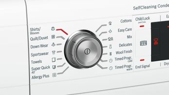 Extra features on Bosch Series 8 Heat Pump Dryer